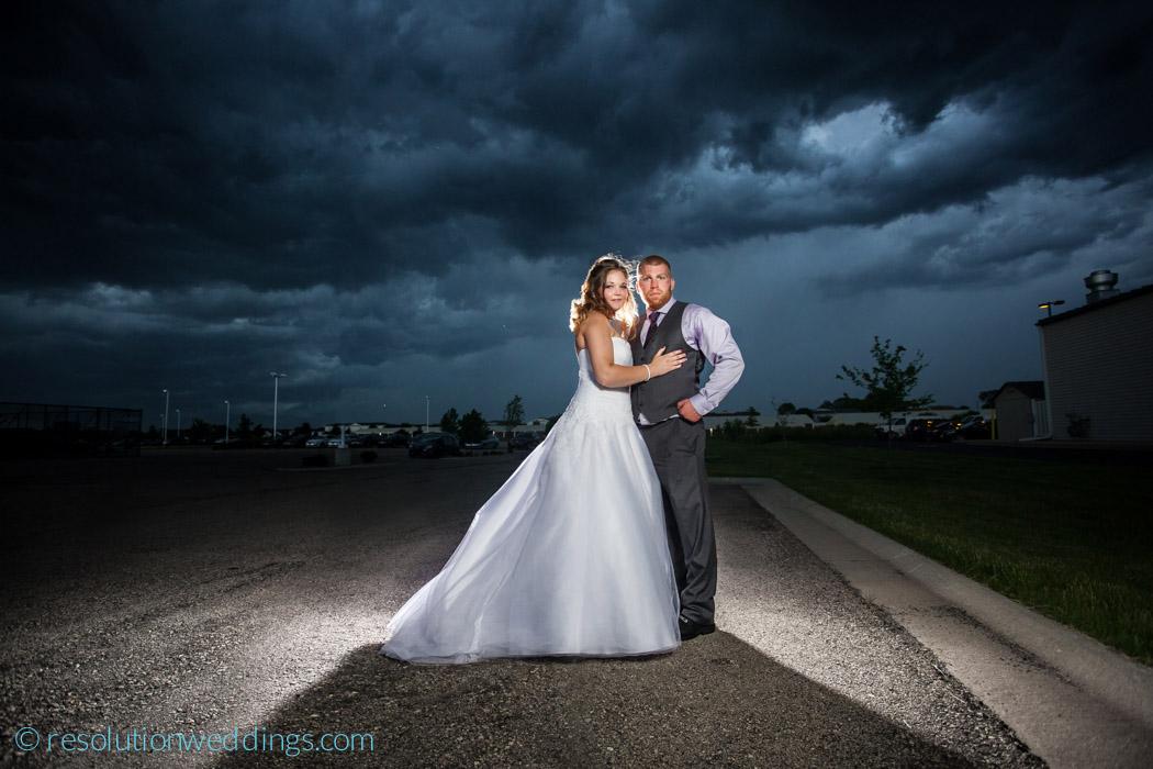 Best oshkosh wedding photographer epic skies