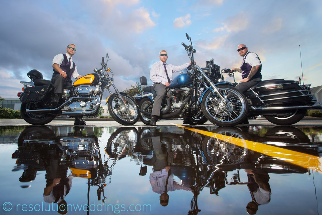 Paine wedding oshkosh photographer motorcycles