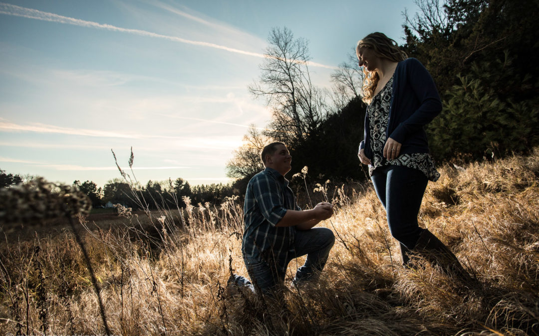 Natasha and Owen: Country engagement pictures